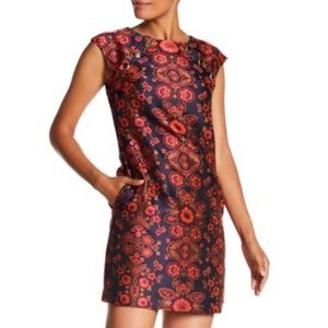 Trina Turk Angelou Floral Jacquard Dress